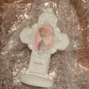 Precious moments Cross display for daughter